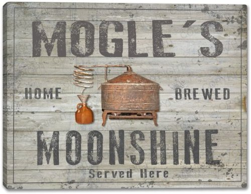 MOGLE'S Home Brewed Moonshine Stretched Canvas Print