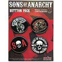 "SONS OF ANARCHY, Officially Licensed, 6"" x 4.5"""