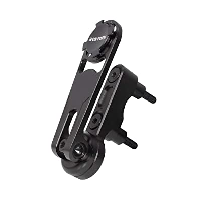 Rokform - Universal Motorcycle Cell Phone Perch Mount, Clutch Perch Phone Mount Fits Most Harley's, Secures Phone Via Quad Tab Twist Lock Mount and Built-In Magnet Mount (Black)