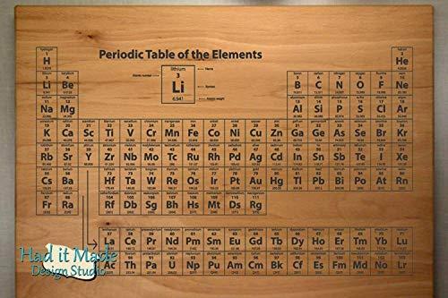 Periodic Table - Personalized Monogram Cutting Board, Engraved Cutting Board, Custom Cutting Board, Wood Cutting Board E5