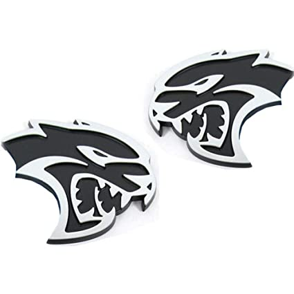 Amazon Com Upauto Hellcat Emblem Left Right 3d Hellcat Logo For