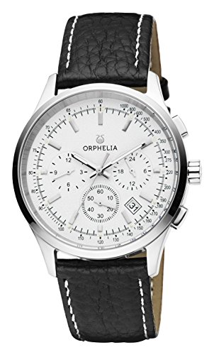 ORPHELIA 24h Men's Black Leather watch-OR81700