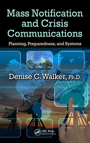 Download Mass Notification and Crisis Communications: Planning, Preparedness, and Systems Pdf