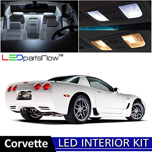 (LEDpartsNow 1997-2004 Chevy Corvette C5 LED Interior Lights Accessories Replacement Package Kit (19 Pieces), WHITE)