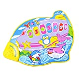 Baby Aeroplane Musical Music Carpet Mat Toy Gift with Animal Sound Touch