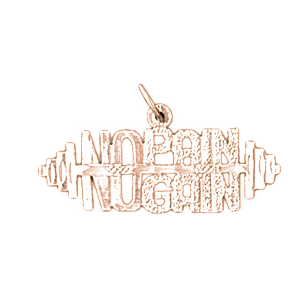 No Gain Saying Pendant Rose Gold-plated Silver 15mm No Pain
