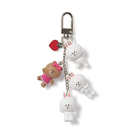 Amazon.com: Line Friends 2019 New Cony & Choco - Llavero con ...