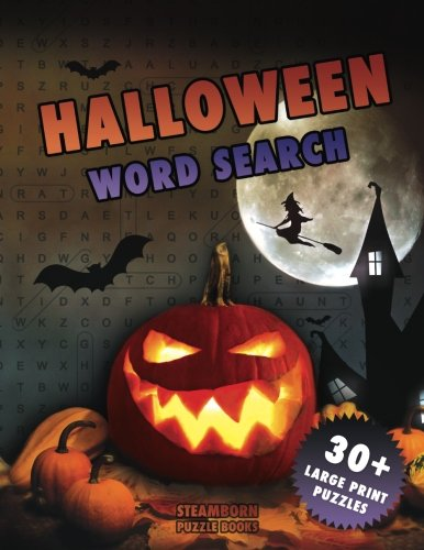 Halloween Word Search: 30+ Large Print Puzzles (Halloween Books)