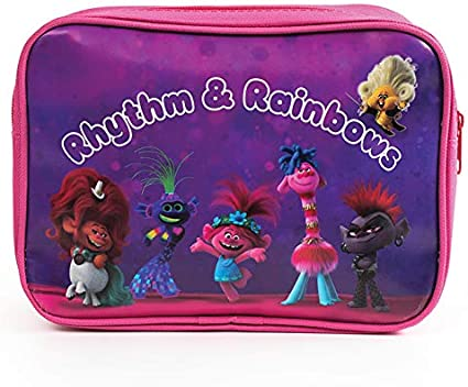 Trolls World Tour – Estuche rectangular con cremallera (Rhythm & Rainbows): Amazon.es: Oficina y papelería