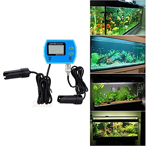 Portable 2 in 1 Water Quality Digital pH / TDS Meter 0~19.99ppt Mini Tester Hydrophonics Aquarium by haizhenlee