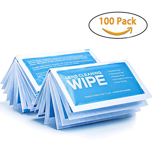 "Pre-Moistened Screen Wipes - 8"" x 5"" Screen Cleaning Wipes, Surface Cleaning for Cameras, Cell Phones, Smartphones, LCD Screens and more - Quick Drying, Streak-Free, Ammonia-Free - Electronic Wipes Screen Free Cell Electronic"