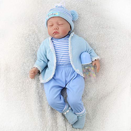 CHAREX Belly Reborn Baby Dolls, 22'' Realistic Newborn Sleeping Baby Doll,Weighted Baby Boy Doll Gifts Set ...