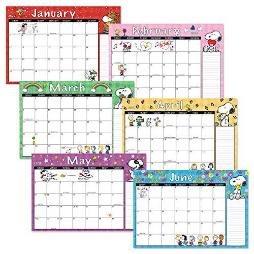 Runs from January 2019 to December 2020 11 x 16-1//4 2019-2020 Peanuts Calendar Pad