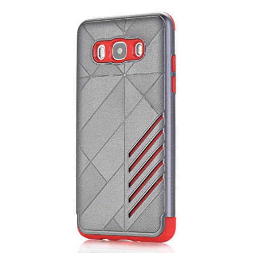 TPU/PC Shockproof Cover Case for Samsung Galaxy J510 J5 2016 (Grey) - 2