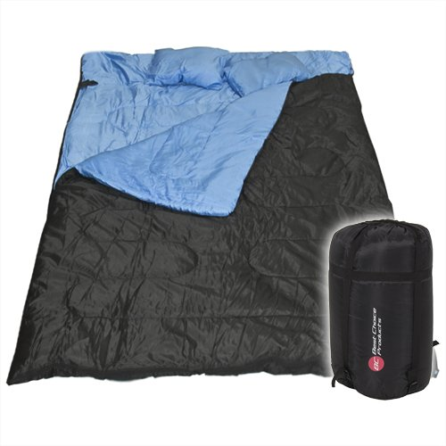 Best-Choice-Products-Huge-Double-Sleeping-Bag-with-2-Pillows-86-x-60-Black