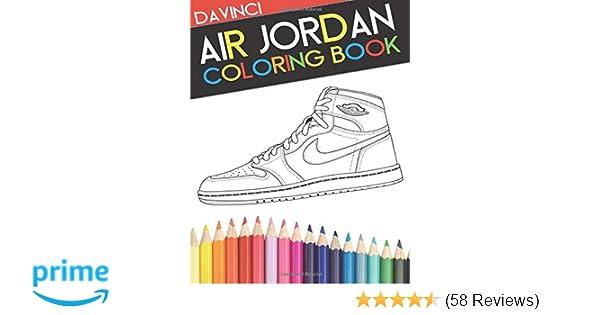 Air Jordan Coloring Book Sneaker Adult Coloring Book Davinci