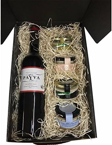 lote productos gourmet con vino en estuche de regalo para Navidad: Amazon.es: Alimentación y bebidas