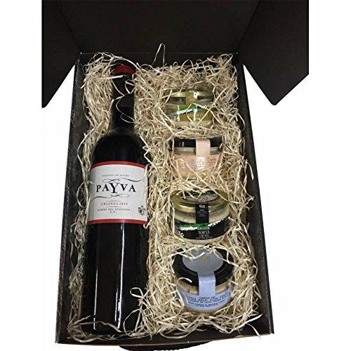 lote productos gourmet con vino en estuche de regalo para ...