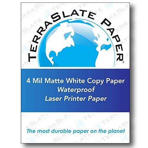 TerraSlate Paper 4 MIL 8.5'' x 14'' Waterproof Laser Printer/Copy Paper 250 Sheets by TerraSlate Waterproof Paper (Image #7)
