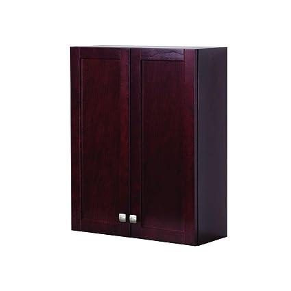 St. Paul Sydney 22 In. W Over John Storage Cabinet In Dark Cherry
