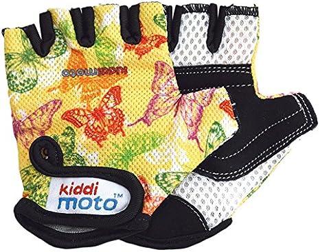 KIDDIMOTO- Butterflies S Guantes, Color Amarillo, 2-5 años (92/110 cm) (GLV048S)