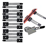 3m cable ties - Eiito Wire Clips Cable Clamps Adjustable 3M Self-Adhesive Nylon Cable Multipurpose Cable Clips for wire management