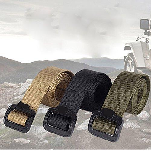 Web Cinturón JTENG Militar cinturón hebilla hebilla Nylon táctico deber cinturón táctico TDU Belt hombres de aeropuerto con cinturón para cintura 28 - 48 ...
