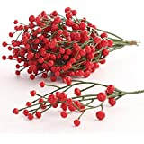 Factory Direct Craft Bundle of Fall Red Artificial Berry Picks for Holiday and Home Decor
