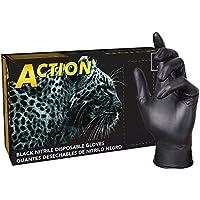 Shamrock 83012-M-BX Nitrile Industrial Grade Work Glove, Powder-Free, Textured, Non Sterile, Latex Free and Allergy Free, 5.5 mil-6 mil, Medium, Black by Shamrock