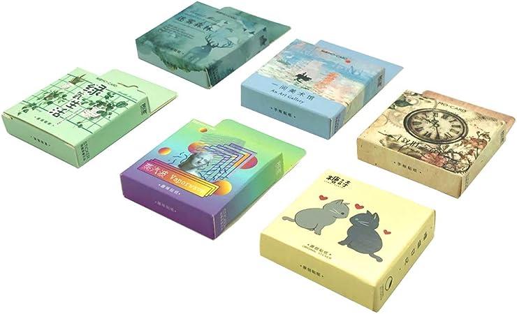 Mini Green Oxygen Life Misty Forest Art Museum y Cute Cat para adolescentes//Grils Crafts Scrapbooking Decoraci/ón Pegatinas WJGJ Cute Stickers Set