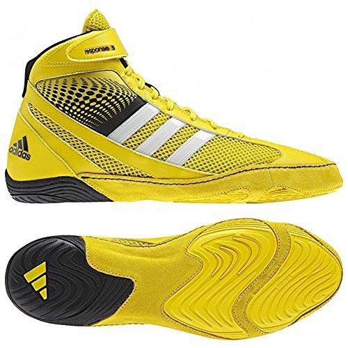 Adidas Response 3.1 Lucha Zapatos - Negro / gris / blanco / oro solar - 5 bright yellow/white/black