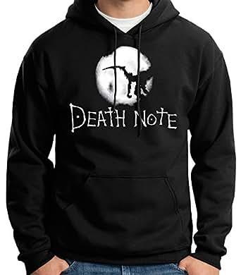 35mm - Sudadera con Capucha - Death Note - Logo - Hoodie, Negra, S