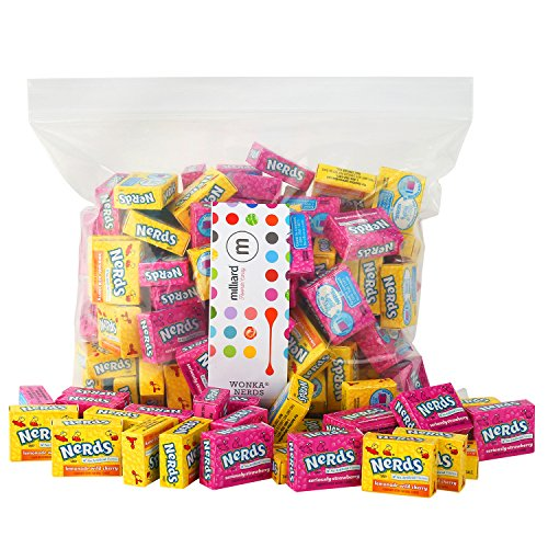 Nerds Candy - Mini Wonka Nerds - Mini Boxes 3 LB Bulk Candy (White Nerds Candy)