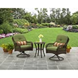Better Homes and Gardens Azalea Ridge 3 Piece Outdoor Bistro Set, Seats 2 – Green