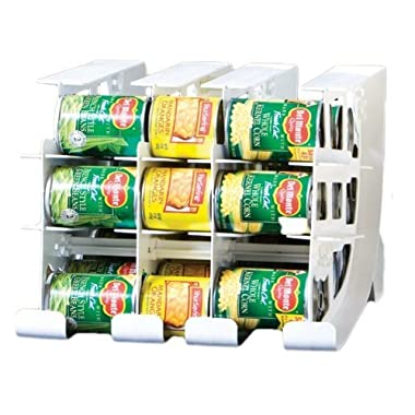 FIFO Can Tracker- Food Storage Canned Foods Organizer/Rotater/Dispenser: Kitchen, Cupboard, Pantry- Rotate Up To 54 Cans - Made in USA
