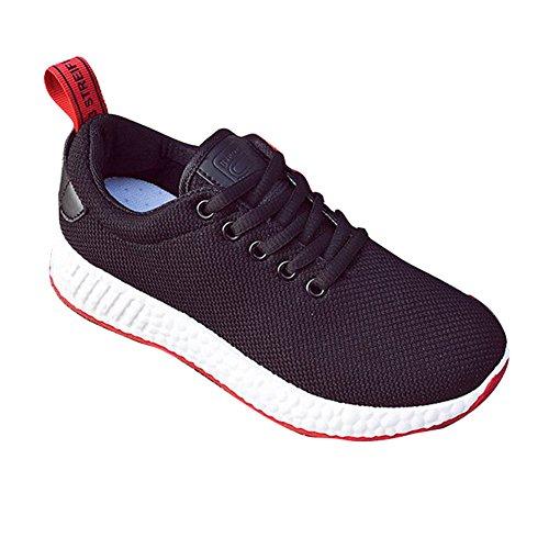 Loisir Respirant Formateurs Fonctionnement 40 Plein Meedot Sport Dames Baskets Gym Air Marchant Plate Sneakers De 35 En Été École Femmes Noir Lacer Chaussures PH1q8PwTx