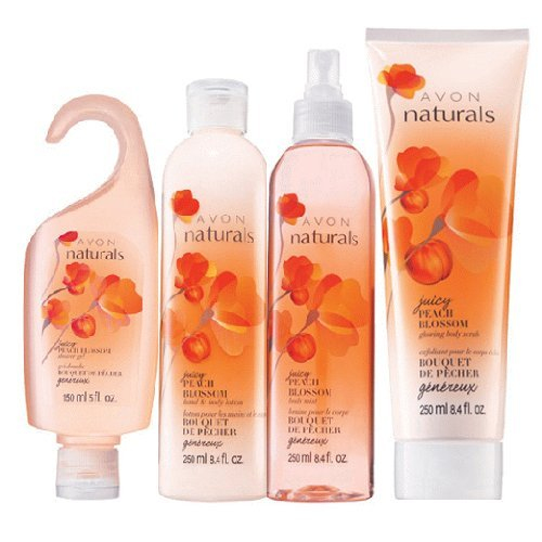 Avon Naturals Juicy Peach Blossom Bath & Body Collection Avon Naturals Blackberry