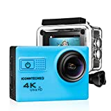 Action Camera for Sports Photography | UHD 4K/24fps, 1080P/60fps, IMX078 Sensor, 70-170 Wide Angle Lens, Waterproof up to 30m by ICONNTECHS IT (Blue) Action Cameras Iconntechs