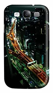Samsung Galaxy S3 Case Cover - Tokyo Nights 3D PC Hard Back Cover for Samsung Galaxy S III / Samsung S3/ Samsung i9300