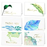 Thank You Cards with Gold Foil Lettering - 36 Assorted Thank You Notes Greeting Cards with Envelopes for All Occasion,Wedding,Graduation,Baby Shower,Bridal Party,Anniversary,Business, 4 x 6 Inches