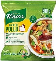 Knorr® Caldo de Pollo en polvo de 200 gramos. Sin saborizantes artificiales, bajo en grasa y hecho con vegeta