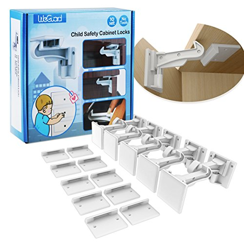 WeGuard 10 Pack Cabinet Locks Child Safety by WeGuard