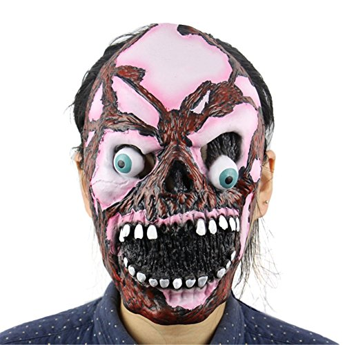 Balai Halloween Mask for Festival Cosplay Halloween Costume Party Props Masks - Latex Walking Dead Mask Clown Head Mask Resident Evil Monster Mask Witch Mask Scared Ghost Head Costume Decorations