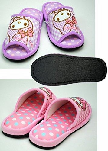 Nippon Slipper Sanrio My Melody Casa Pantofole per Adulti misura 4.5-6.5 dimensione europea 34-38 Puntini Viola