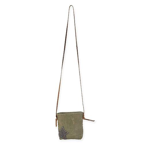 Amazon.com: Uchi Star pequeño lona Crossbody Vintage ...