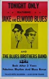 #3: Blues Brothers Concert reprint mini poster w/ FREE Gift & FREE US SHIPPING