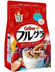 日亚:又到吃麦片的季节啦:Calbee卡乐比水果果仁谷物营养麦片800g×6袋 新降好价3823日元(约¥265,不含运费)
