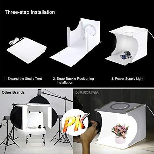 LED Light Soft Box Camera Photo Background Box Lighting Tent Kit Portable 64 LEDs Folding Photo Lighting Studio Shooting Tent Box Kit Gizayen Mini Folding Lightbox Photography Studio Softbox