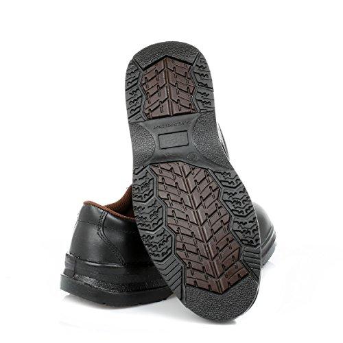 Grafters Heren Black Steel Plain Gibson Veiligheidsschoenen