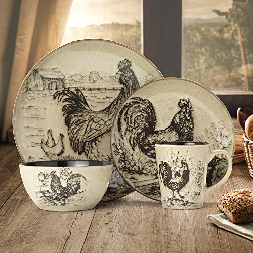 Rooster plates decor